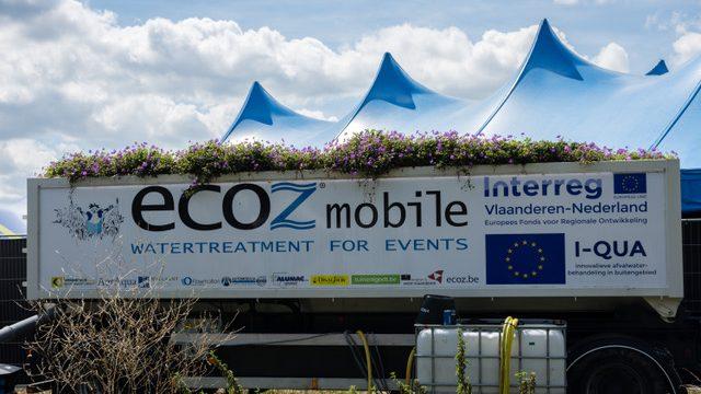 Hardcore en waterzuivering: ECOZ® Mobile op festival Ieperfest